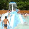 Waterslide and mushroom's shower where children have fun